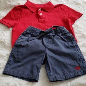 Lot of 2 - Chaps/Cherokee Short & Shirt Bundle